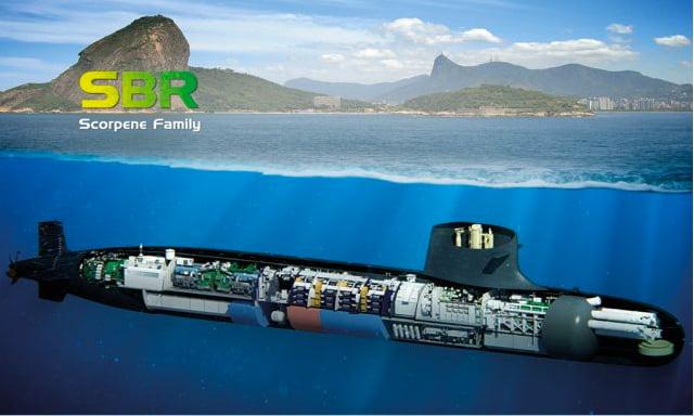 Submarino nuclear da Marinha, ilustração de novos submarinos da Marinha do Brasil