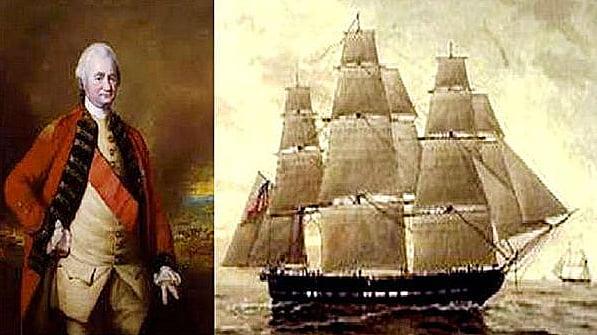 navio do tesouro, imagem do navio Lord Clive, que naufragou no rio da Prata