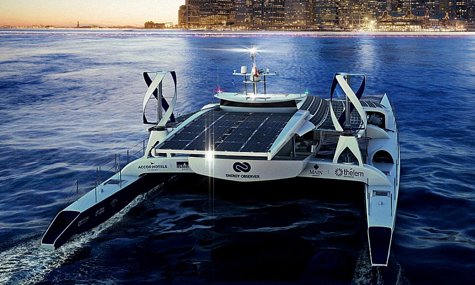 Embarcação a hidrogênio, imagem do primeiro barco movido a hidrogênio