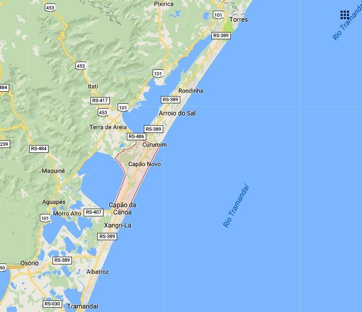 capao-da-canoa, imagem de mapa de capão da canoa