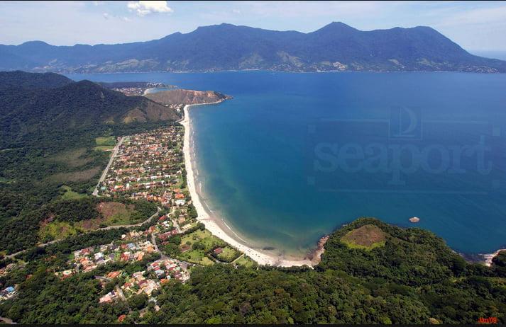 guaecá, imagem da praia de Guaecá, SP