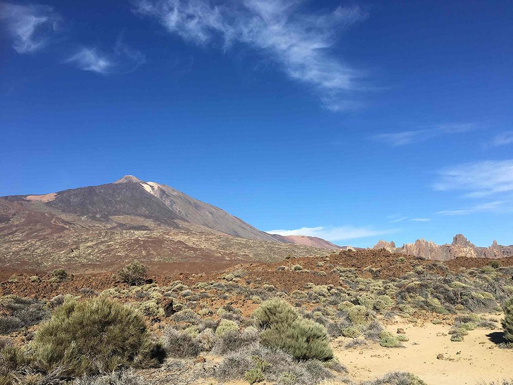 viagem de veleiro, imagem do vulcão Teide