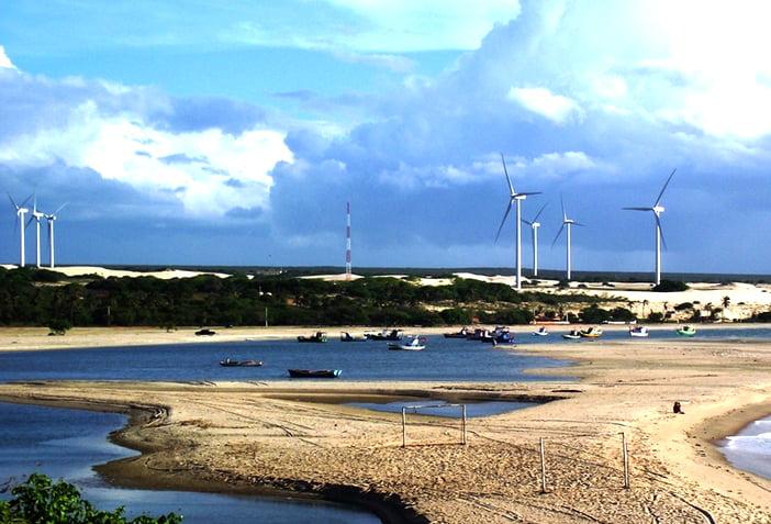 especulação, imagem de parque eólico em areia branca, RN