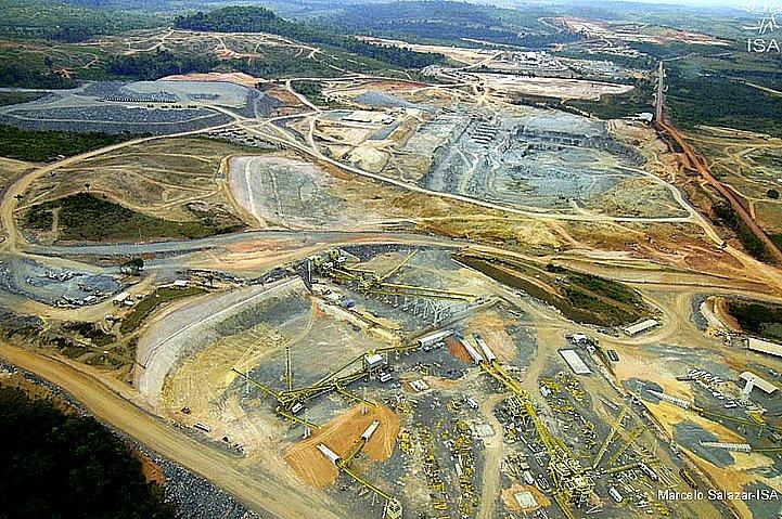 garimpo, imagem aérea da construção da usina de belo monte no Pará