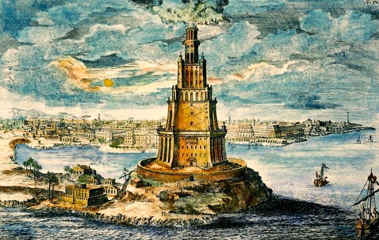 imagem de ilustração de O Farol de Alexandria