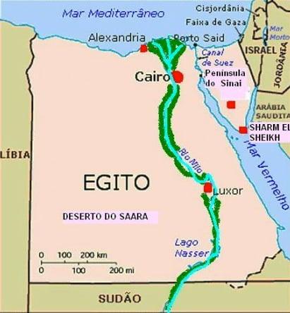 O Farol de Alexandria, imagem de mapa mostrando alexandria