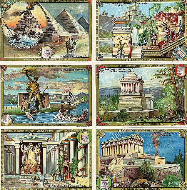Ilustração da antiga Alexandria
