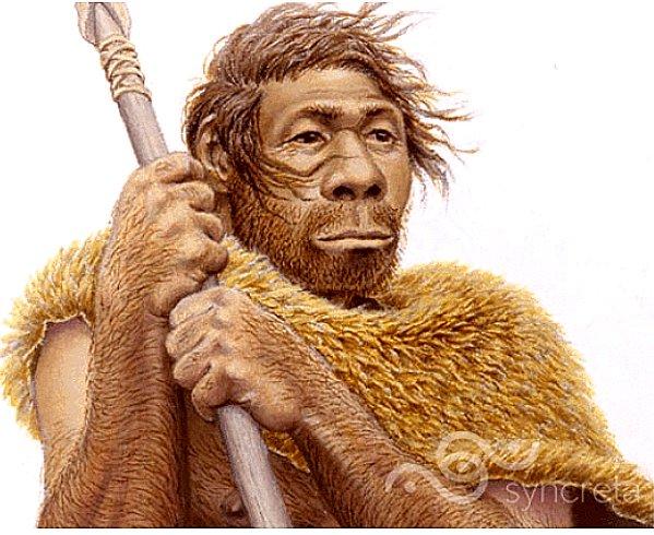 ilustração de caçador coletor homo sapiens