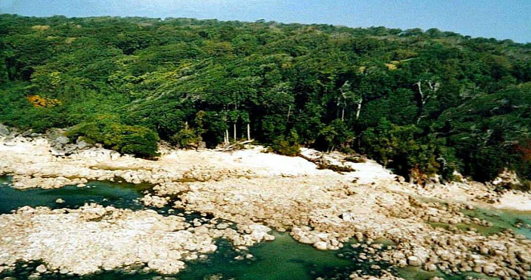 imagem da ilha sentinela do norte, índico, uma ilha perigosa e isolada