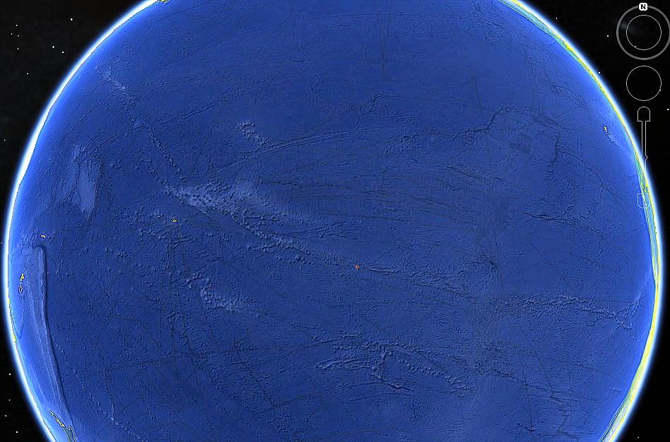 mapa mostrando a ilha henderson, campeã em lixo plástico