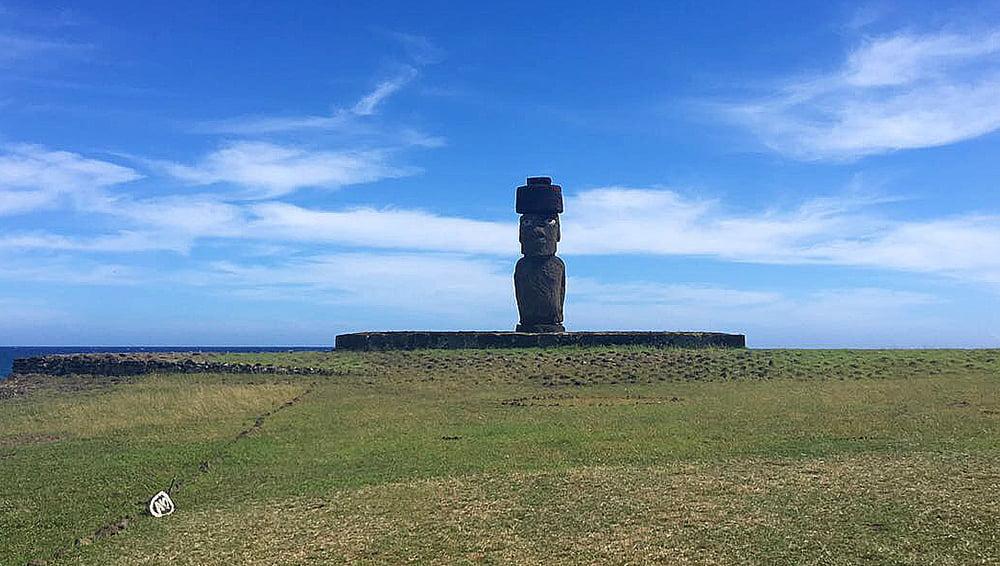 Viagem da Kika, diário de bordo Nº 6, moai na ilha de Páscoa