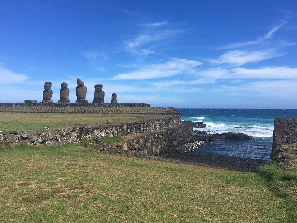 Viagem da Kika, diário de bordo Nº 6, imagem moais da ilha de páscoa