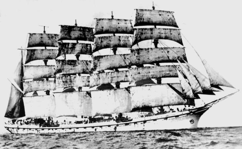 Maior navio a vela do mundo, imagem do navio France II
