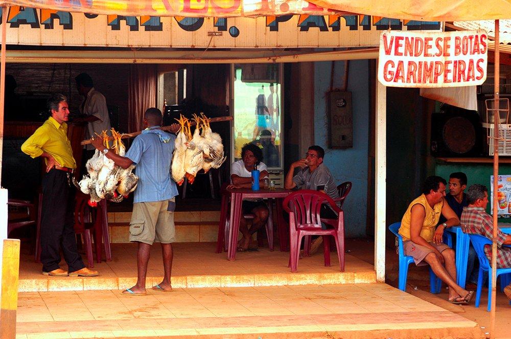 O litoral do Amapá, imagem de vendedor de frangos