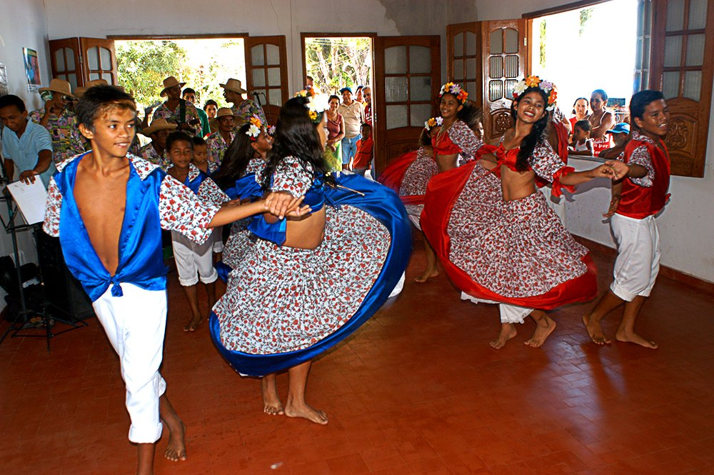 Litoral de Belém e llha de Marajó, imagem de dança do carimbó