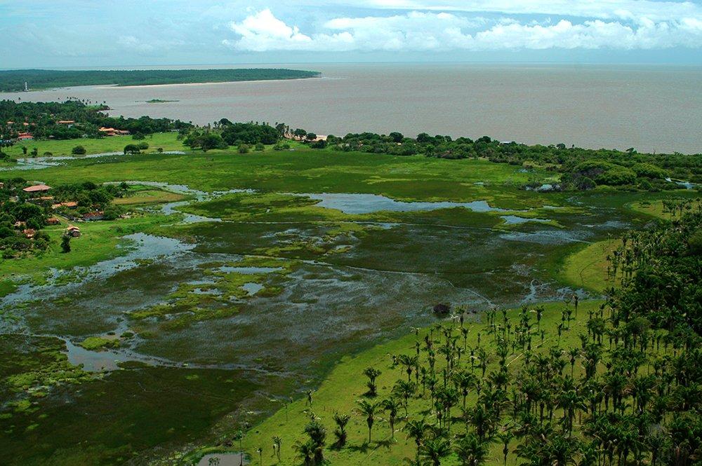 Litoral de Belém e llha de Marajó, imagem dos Alagados em Marajó