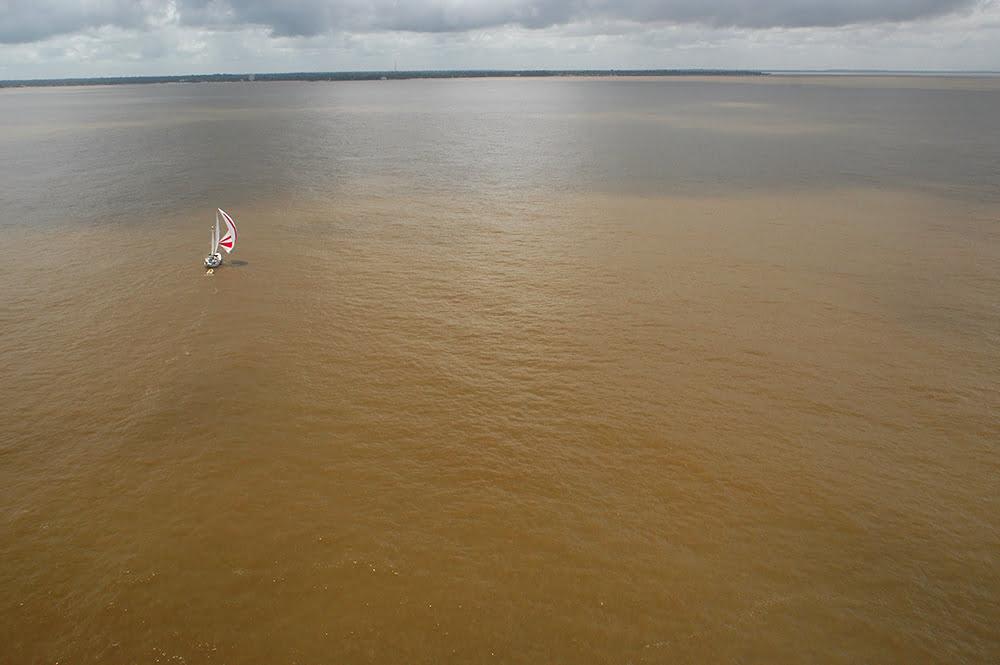 Litoral de Belém e llha de Marajó, imagem do rio amazonas