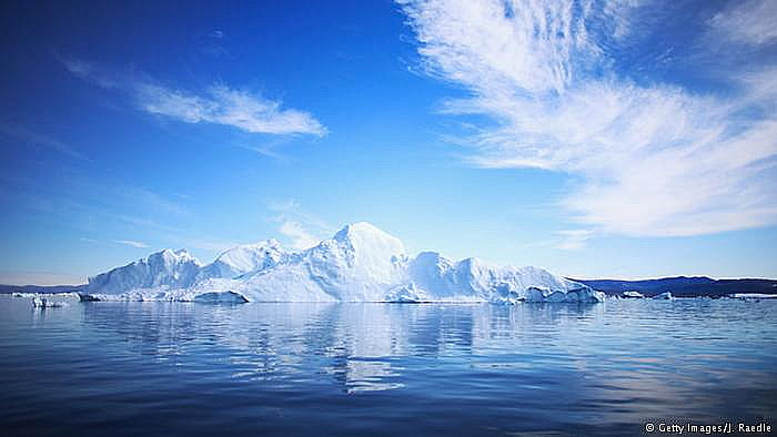 Aquecimento global ameaça Patrimônios Nacionais, imagem do fiorde Ilulissat, Groenlândia