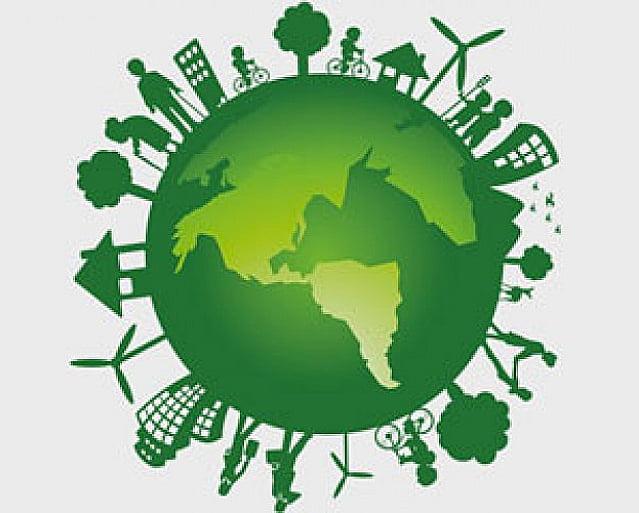 Proposta de ambientalistas ao Governo Federal, ilustração de globo terrestre verde