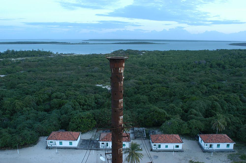 Litoral Sul do Maranhão, imagem do antigo farol da ilha de Santana