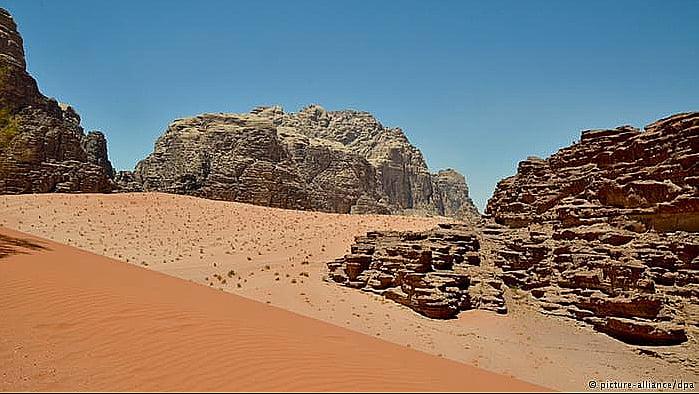 Aquecimento global ameaça Patrimônios Nacionais, imagem do vale da lua, jordânia