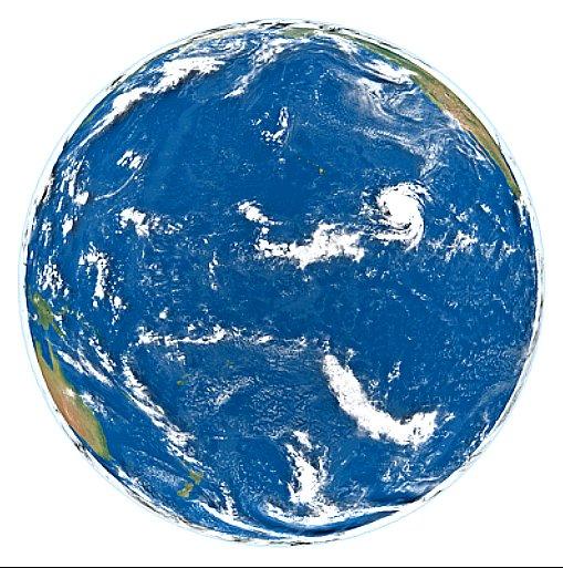Conferência da ONU sobre os Oceanos, imagem do globo mostrando oceanos