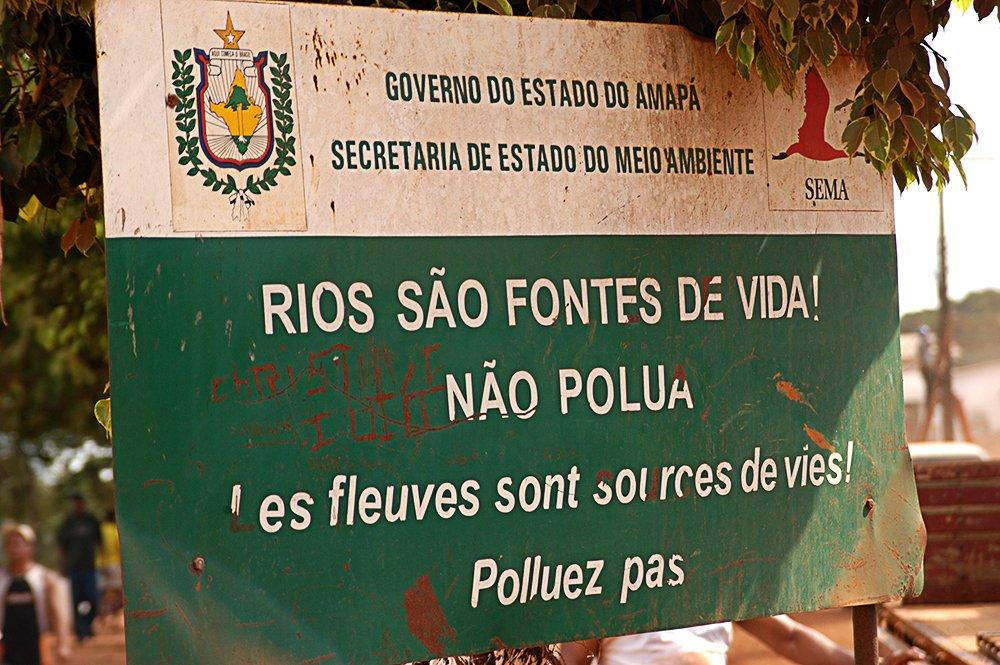 O litoral do Amapá, imagem de placa