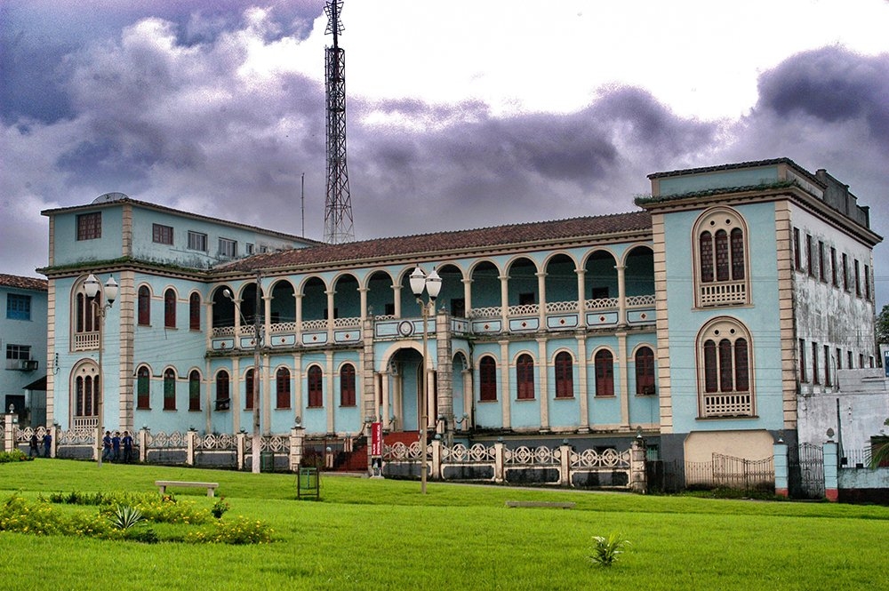 Imagem de prédio em estilo manuelino, Bragança