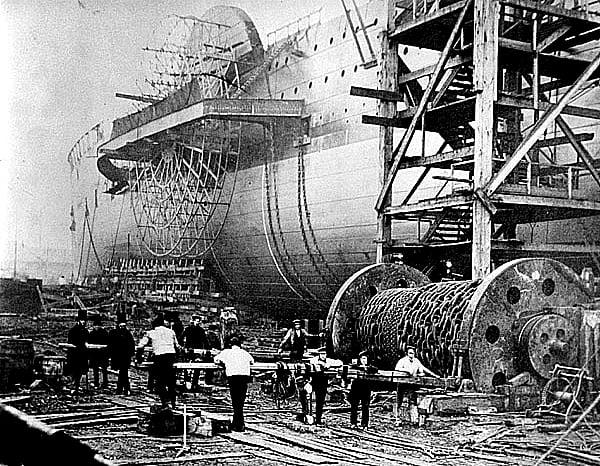 SS Great Eastern, imagem da construção do SS Great Eastern
