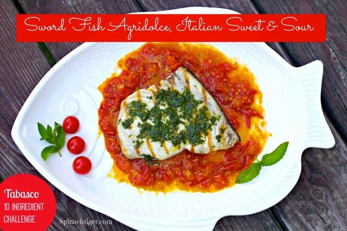 Swordfish no Mediterrâneo, imagem do Swordfish no prato de restaurante