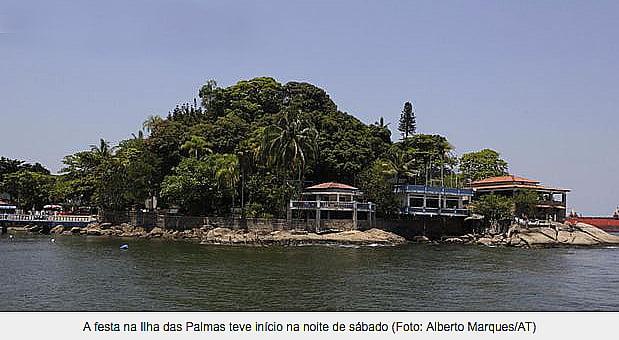 Assaltos a barcos no Brasil , imagem da ilha das palmas, santos