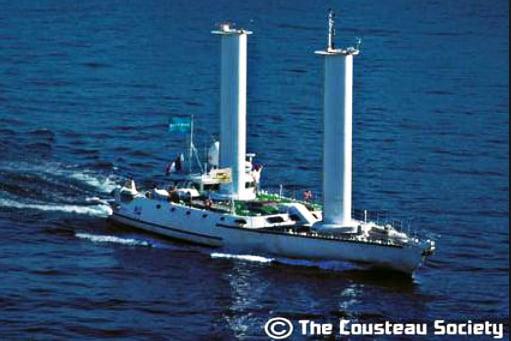 Jacques Cousteau, um surpreendente inventor, imagem do navio alcyone