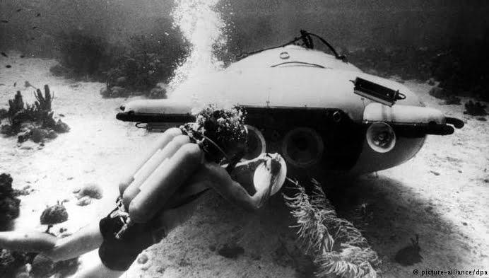Jacques Cousteau, um surpreendente inventor, imagem de subamrino de cousteau
