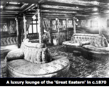 SS Great Eastern, imagem da sala de estar do SS Great Eastern