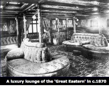 SS Great Eastern, imagem da sala de estar do SS Great Eastern