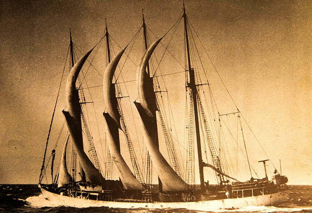 imagem de bacalhoeiro português, lugre, parte da última frota à vela