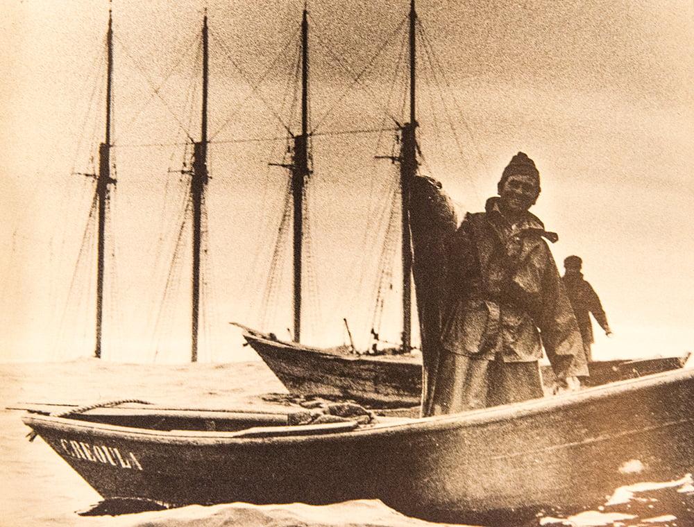 imagem de pescador de bacalhau nos mares do norte