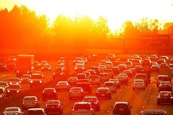 Aquecimento global, imagem de congestionamento de trânsito