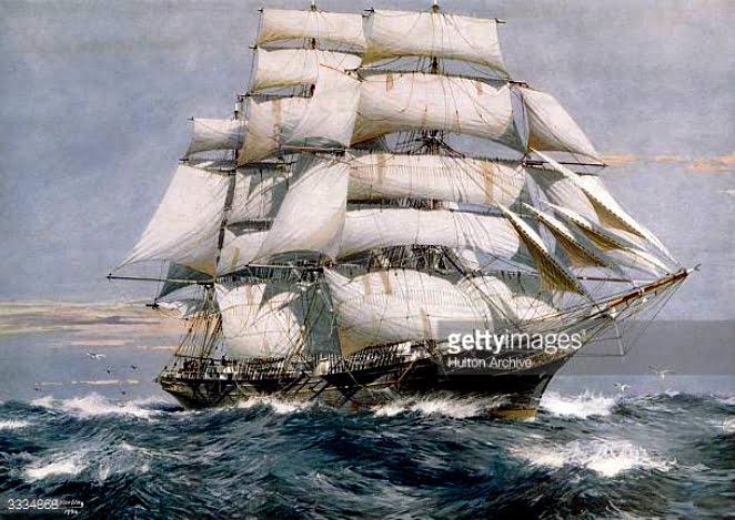 imagem de um navio clipper, último modelo de barco à vela