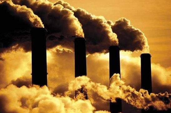 Aquecimento global, imagem de fumaça de fábricas