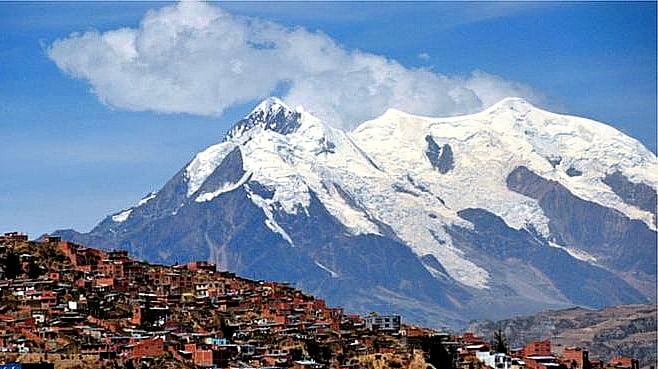 Memórias do gelo, geleira da Bolívia agora na Antártica?, imagem da Geleira Illimani, Bolívia