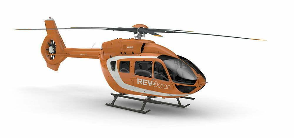 imagem do helicóptero do REV Ocean.
