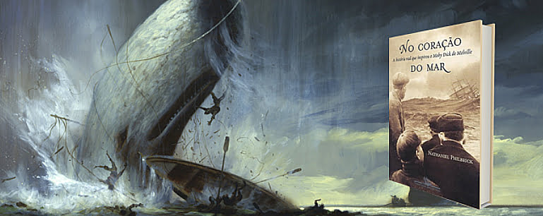Ilustração do livro No coração do mar um dos Dez livros náuticos: todo homem/mulher do mar deveria ler