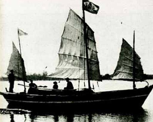 imagem do barco Liberdade, de slocum, para a série dez livros