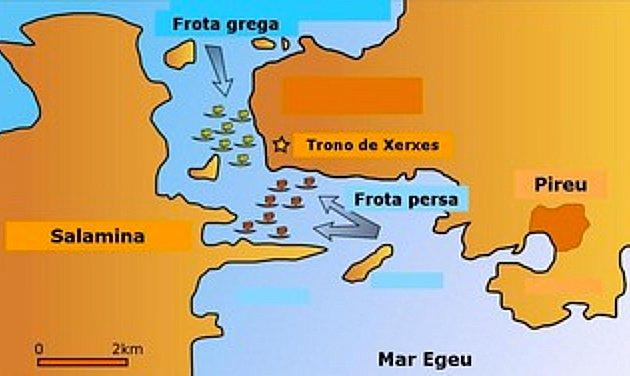 imagem de mapa da batalha vala de salamina