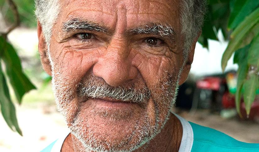 imagem de seu eliseu, pescador da Resex de Cssurubá