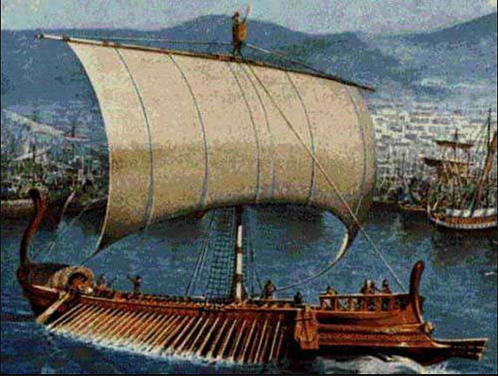 desenho de navio fenício