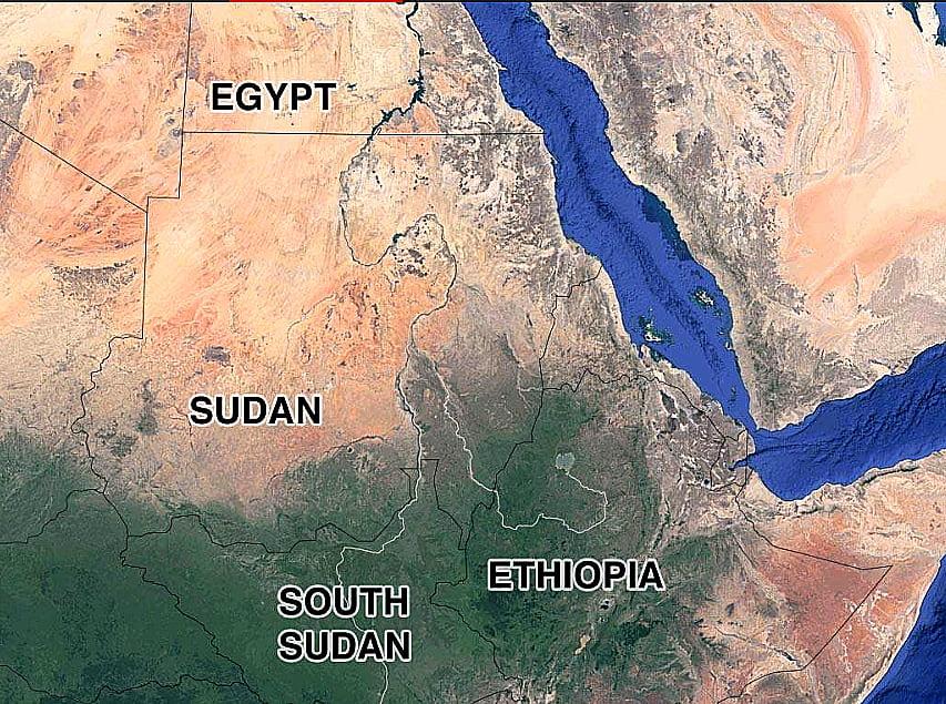 imagem de mapa mostrando o rio Nilo para a matéria A morte do rio Nilo