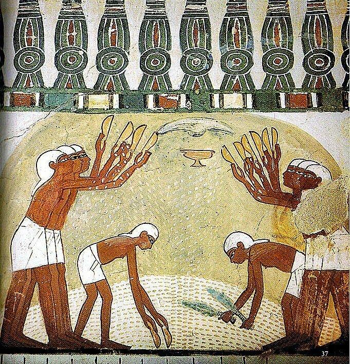 gravura de egípcios