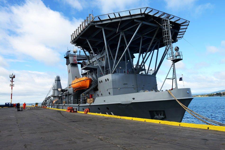 imagem do navio NSS Felinto Perry